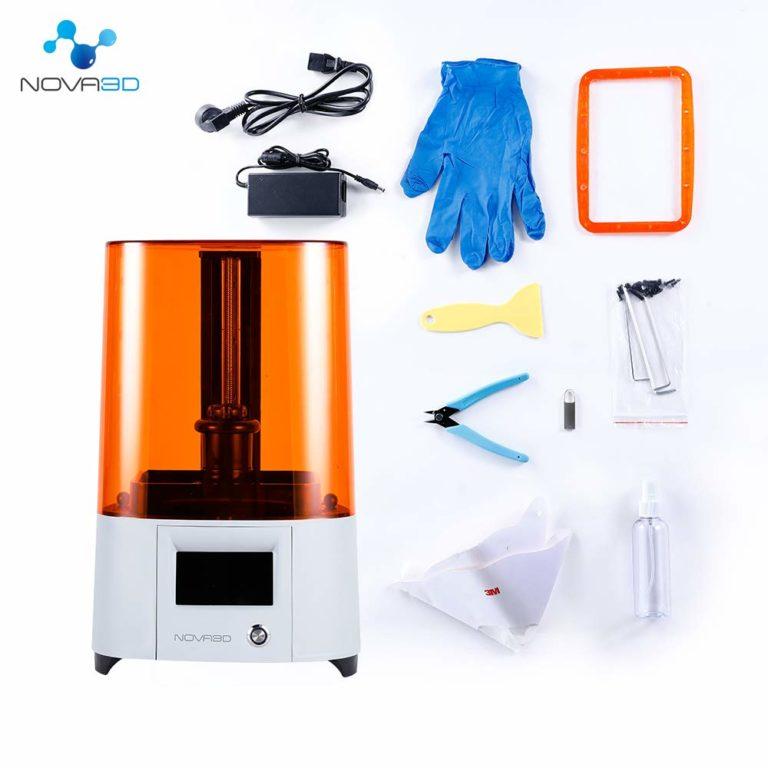 NOVA3D Elfin 3Dプリンター LCD 光造形、130*70*150mm 印刷サイズ