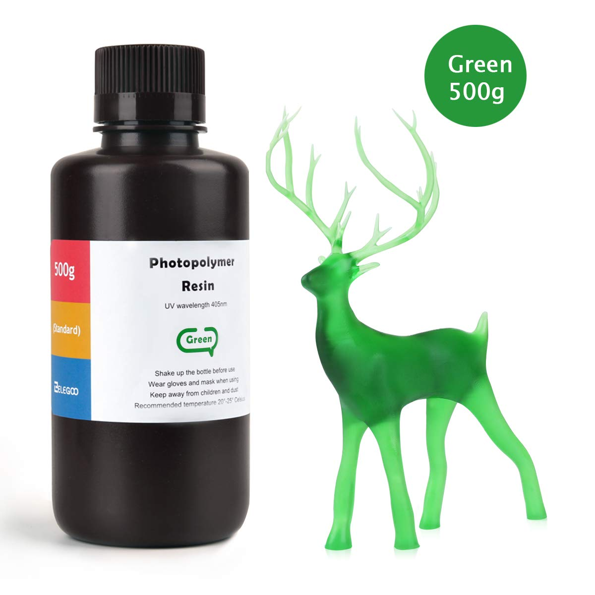 ELEGOO 光造形3Dプリンター用 ABS類似UVレジン 500g 光硬化可能樹脂